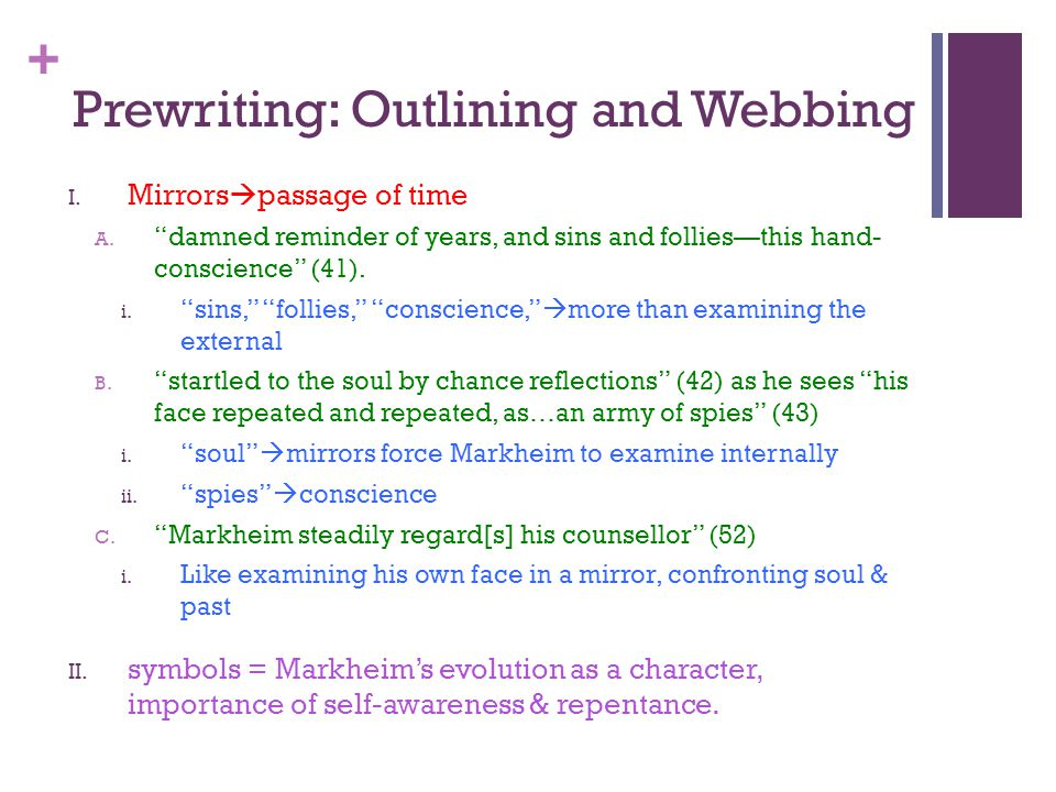 Prewriting: Outlining and Webbing