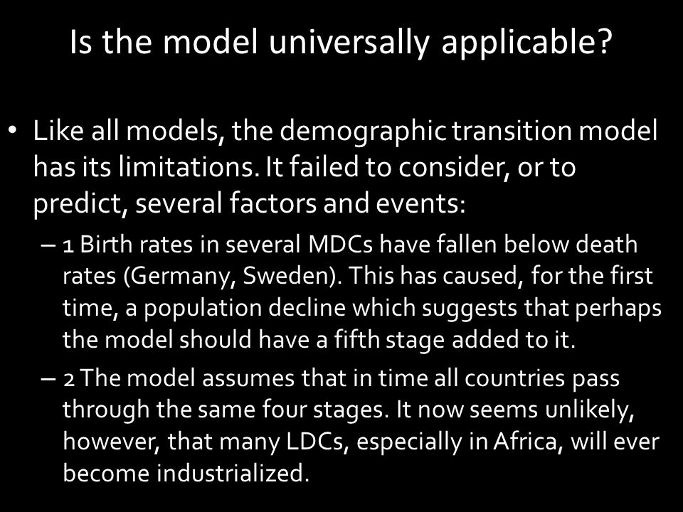 Is the model universally applicable