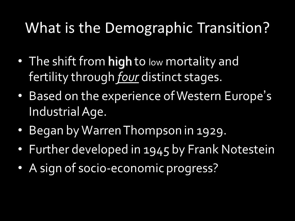 What is the Demographic Transition