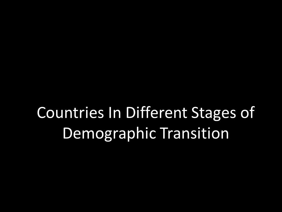 Countries In Different Stages of Demographic Transition