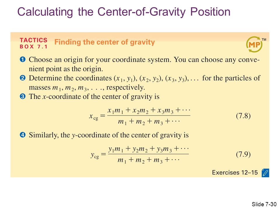 Calculating the Center-of-Gravity Position