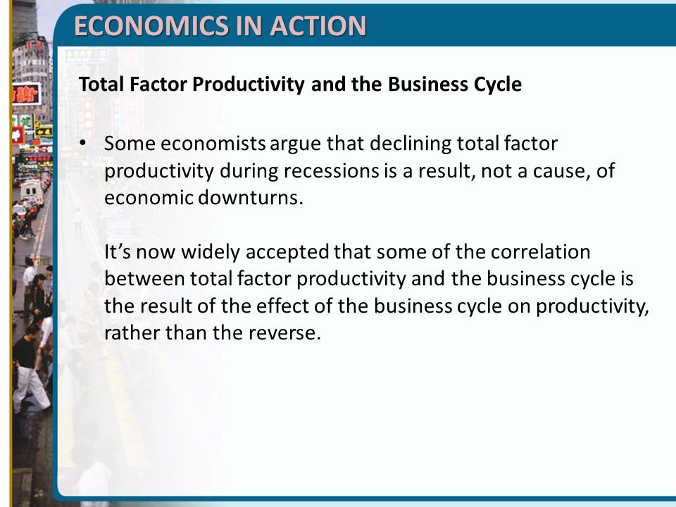 ECONOMICS IN ACTION Total Factor Productivity and the Business Cycle