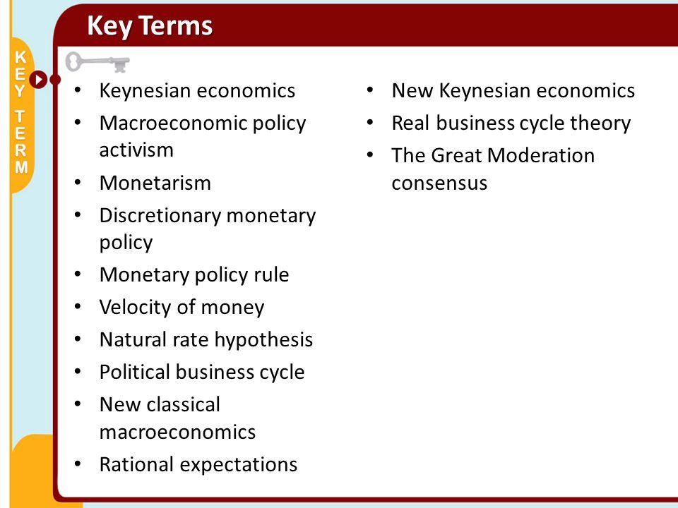 Key Terms Keynesian economics New Keynesian economics