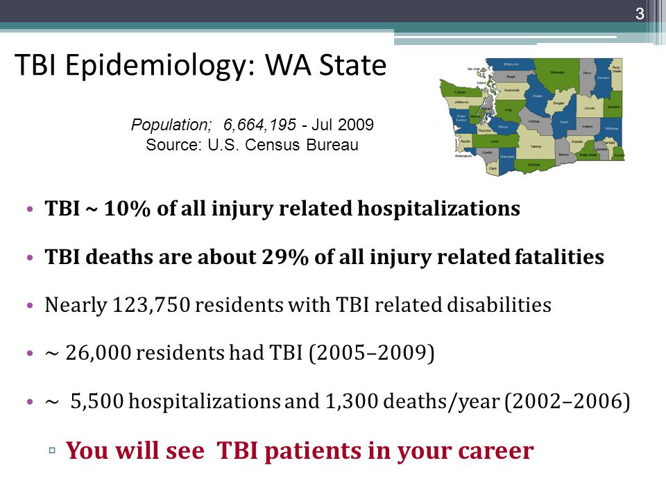 TBI Epidemiology: WA State