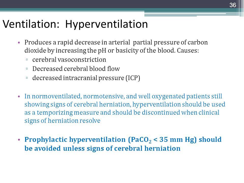 Ventilation: Hyperventilation
