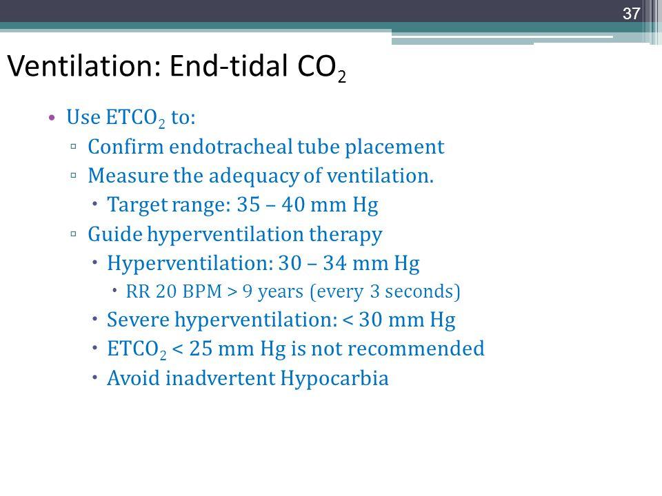 Ventilation: End-tidal CO2