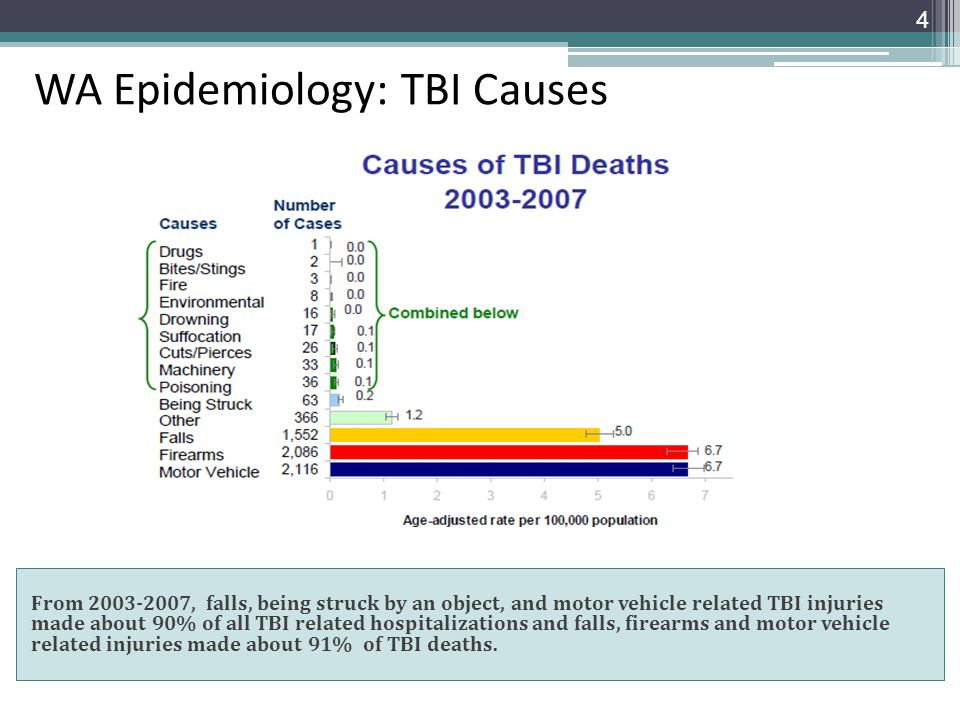 WA Epidemiology: TBI Causes