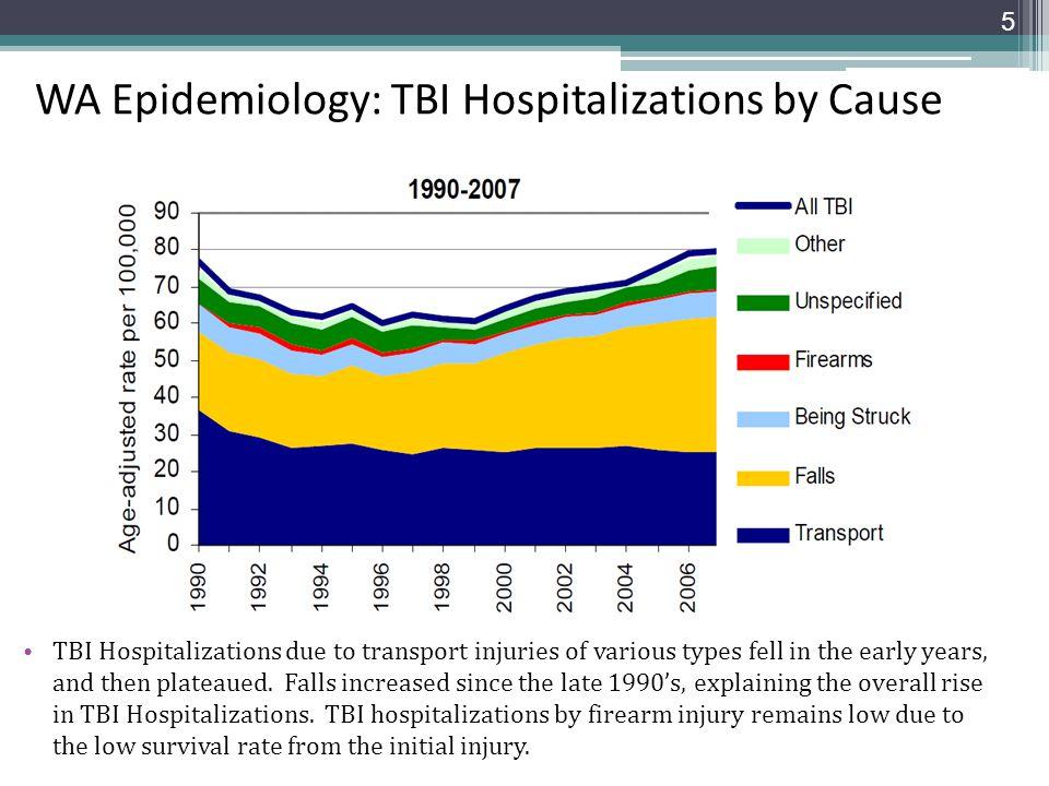 WA Epidemiology: TBI Hospitalizations by Cause