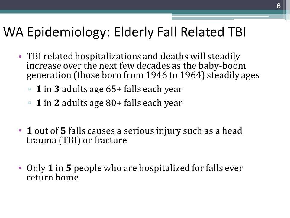WA Epidemiology: Elderly Fall Related TBI