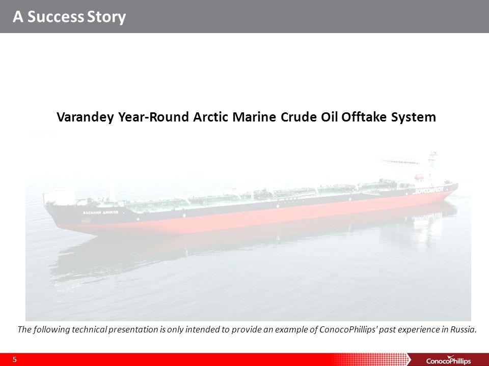 Varandey Year-Round Arctic Marine Crude Oil Offtake System