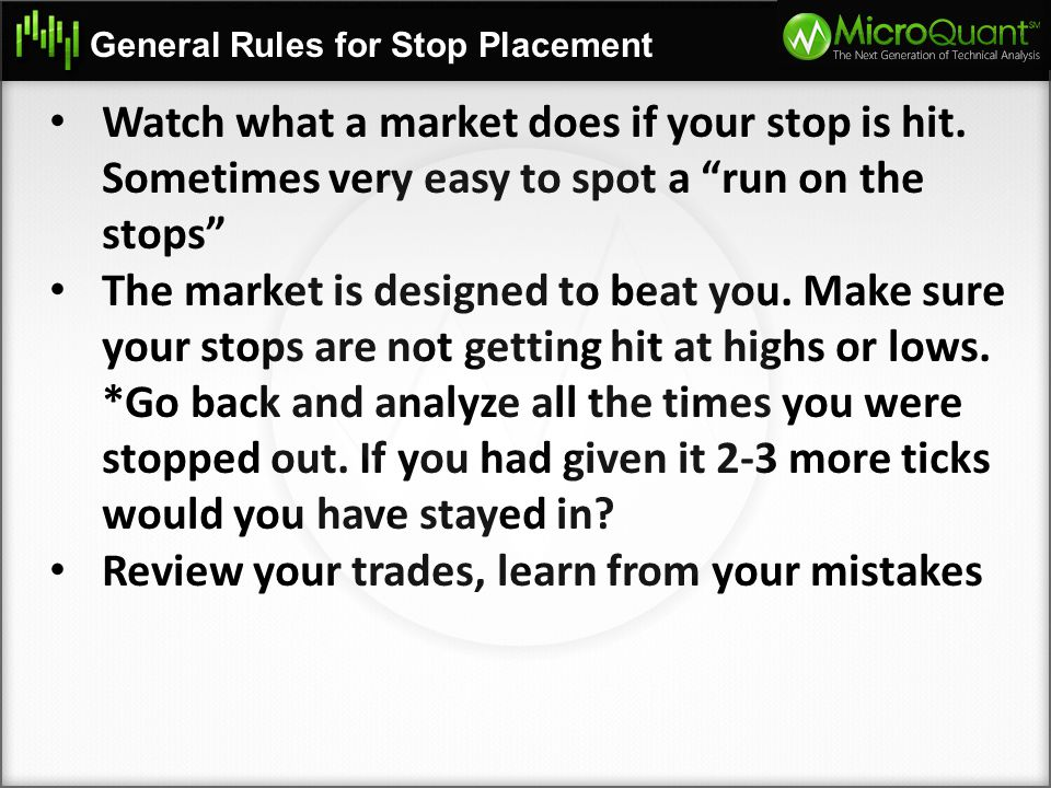 Review your trades, learn from your mistakes