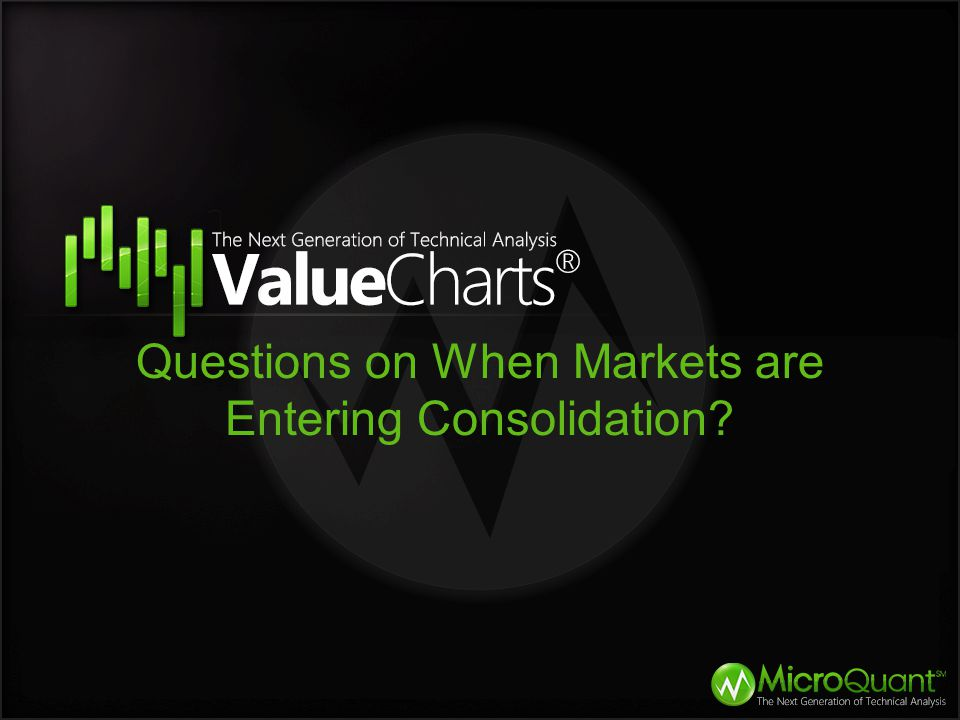 Questions on When Markets are Entering Consolidation