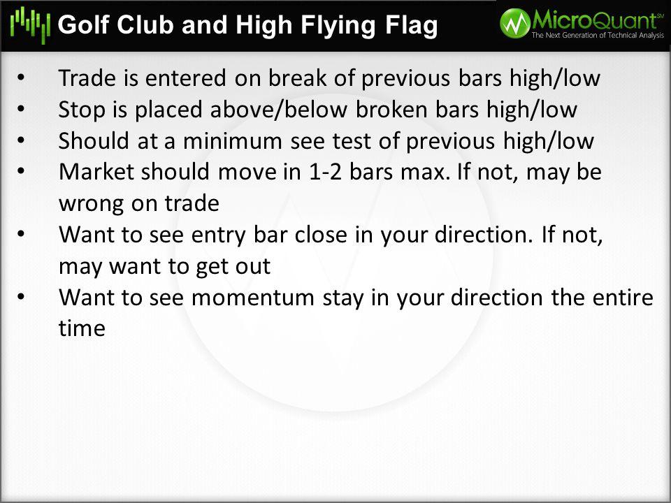 Golf Club and High Flying Flag