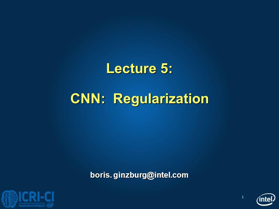 Lecture 5: CNN: Regularization
