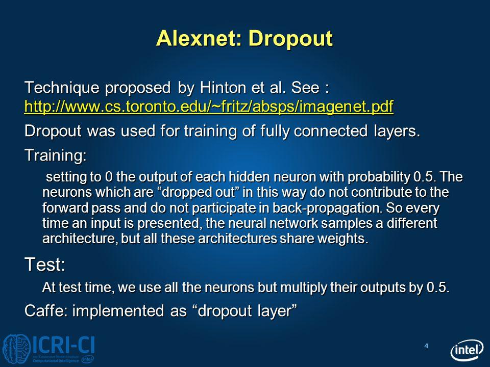 Alexnet: Dropout Test:
