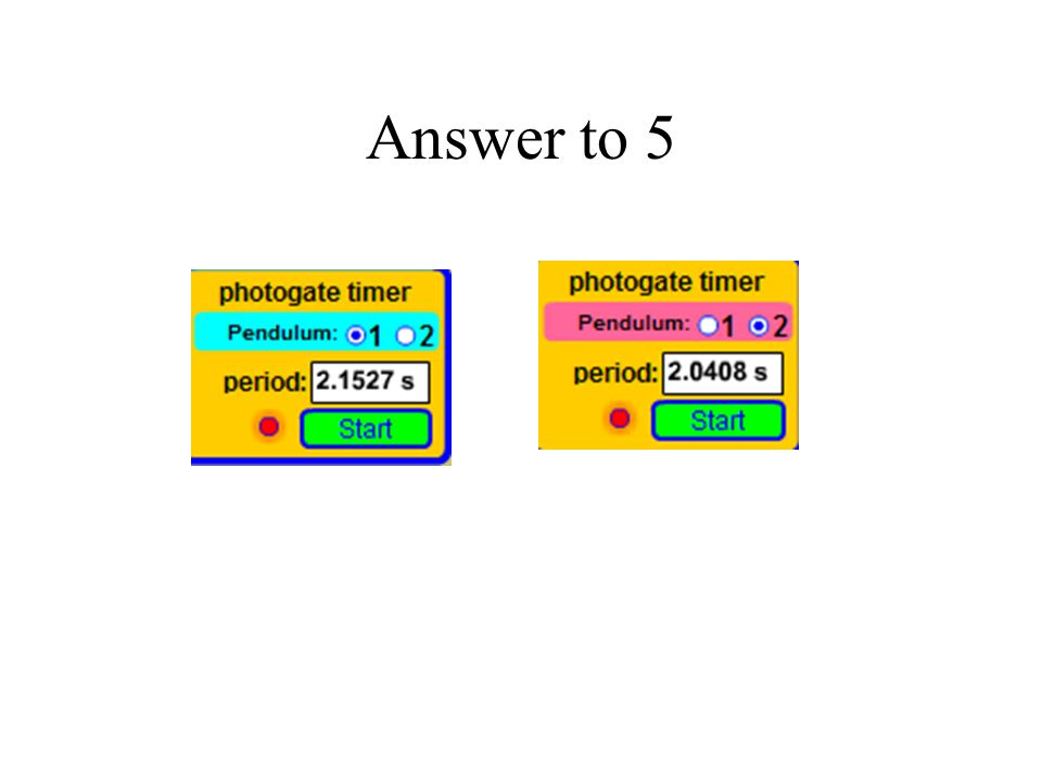 Answer to 5