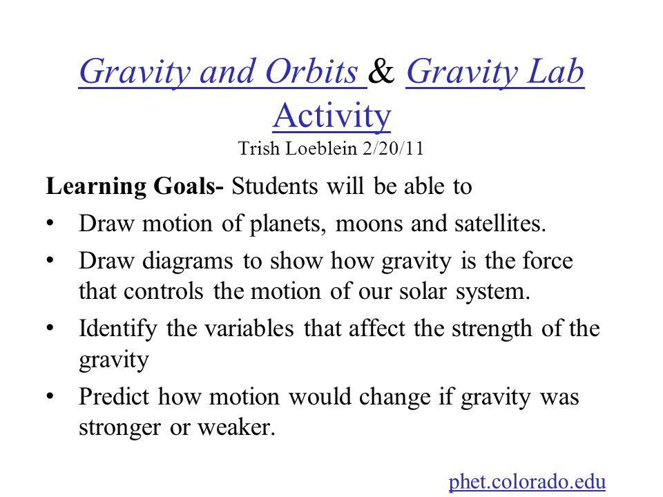 Gravity and Orbits & Gravity Lab Activity Trish Loeblein 2/20/11