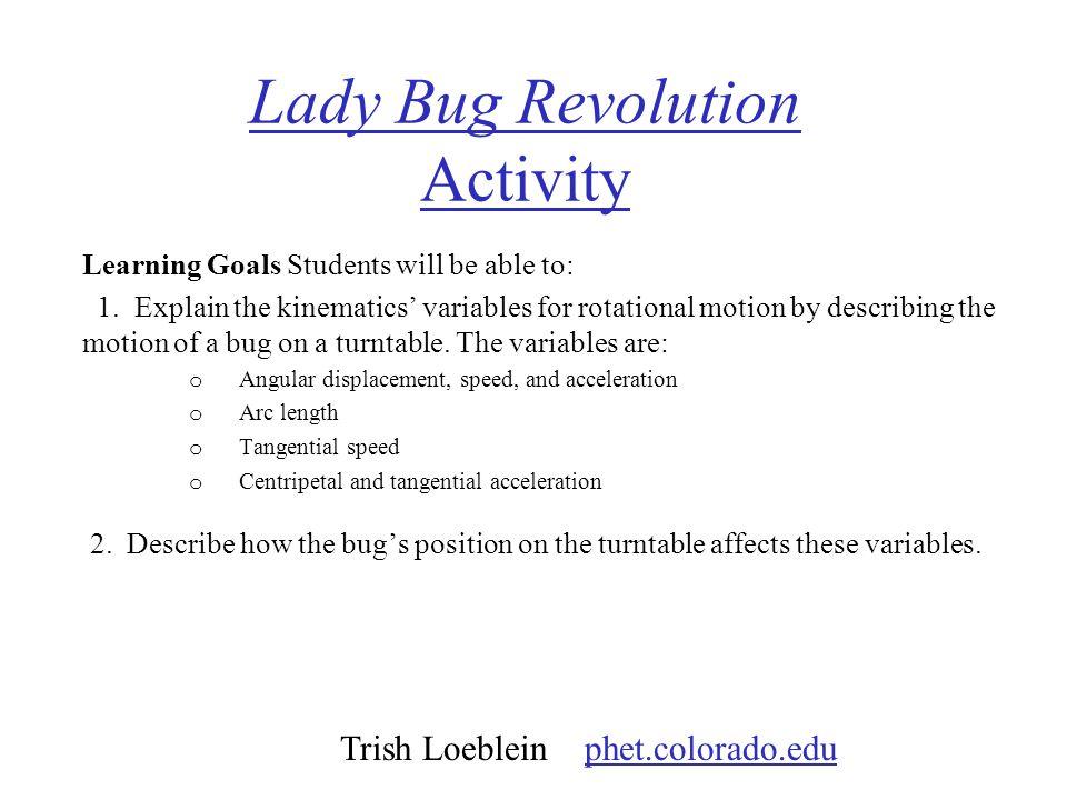 Lady Bug Revolution Activity