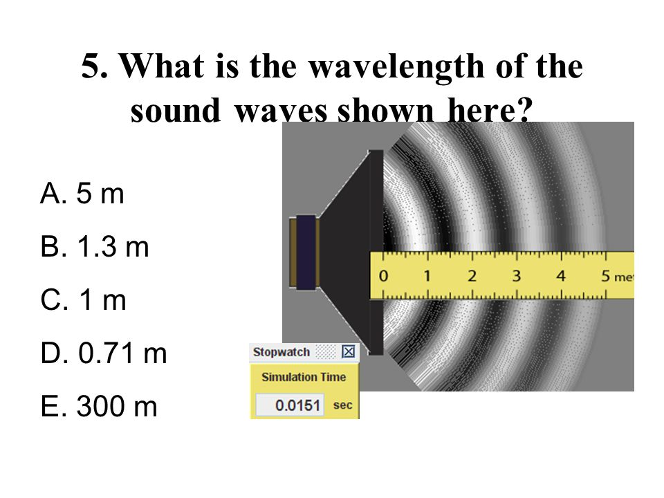 5. What is the wavelength of the sound waves shown here