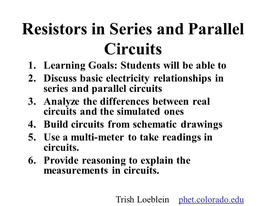 Resistors in Series and Parallel Circuits