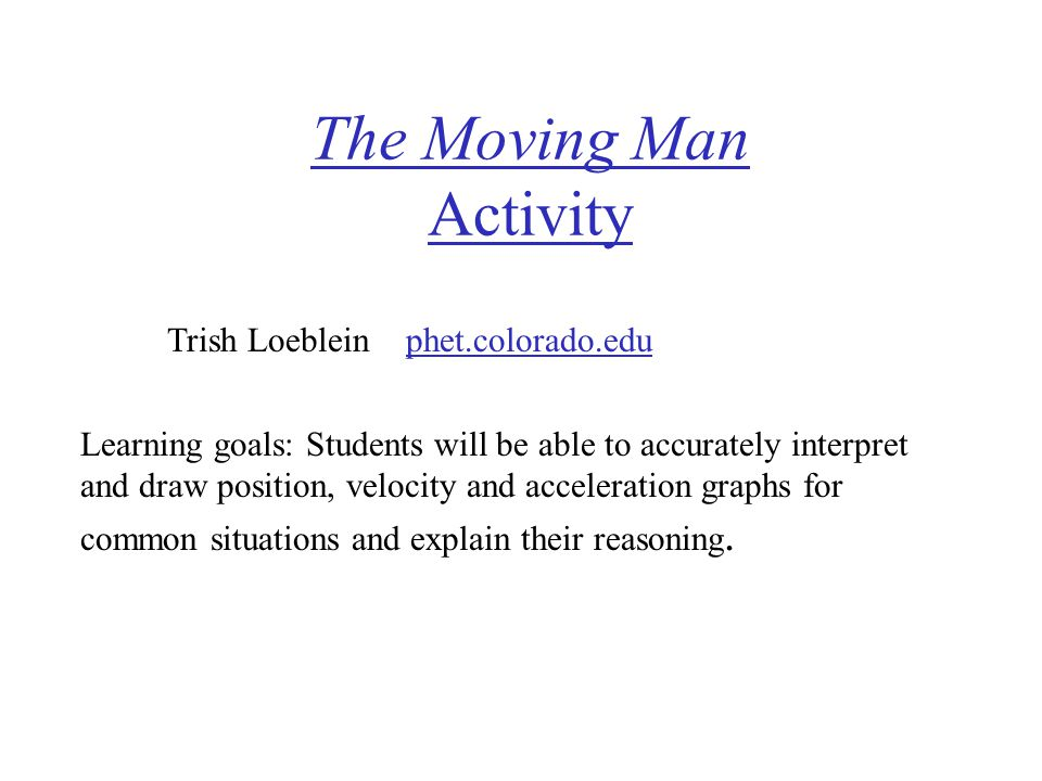 The Moving Man Activity