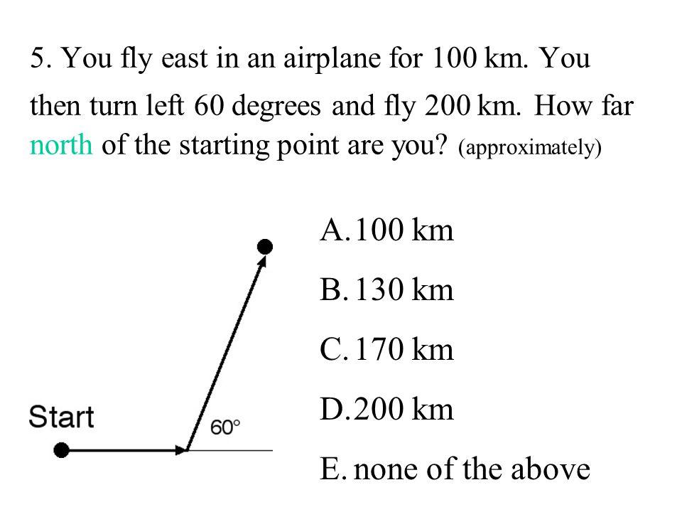 100 km 130 km 170 km 200 km none of the above