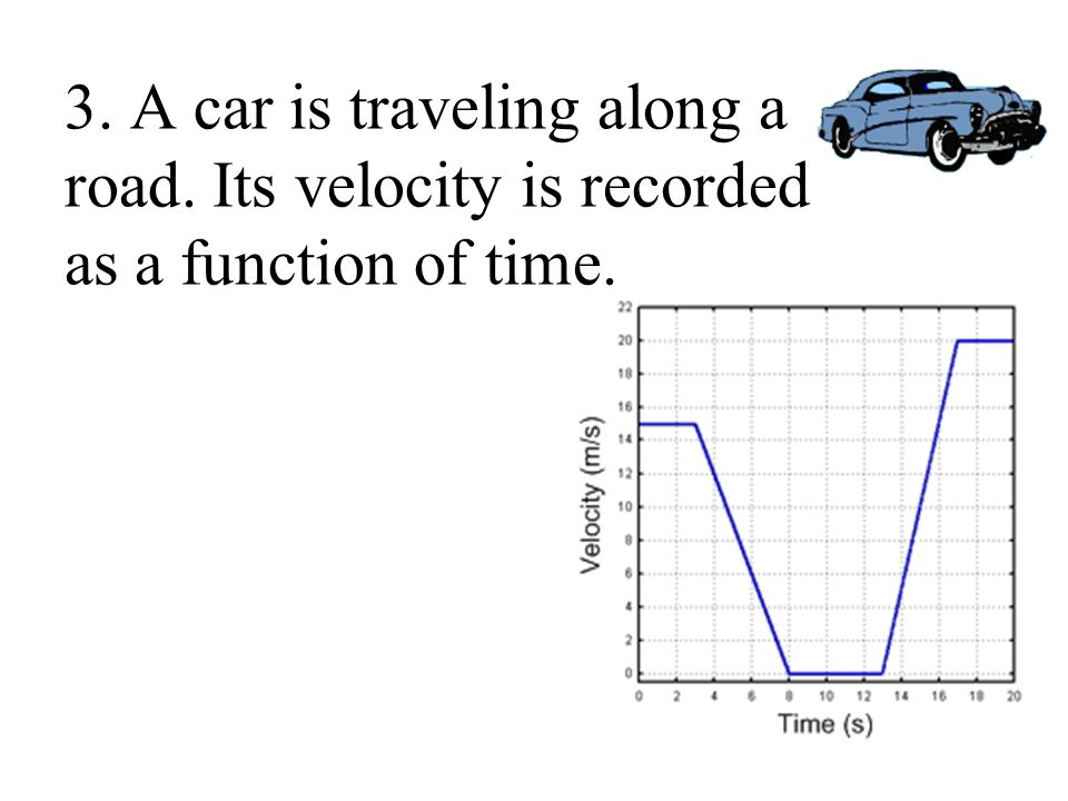 3. A car is traveling along a road