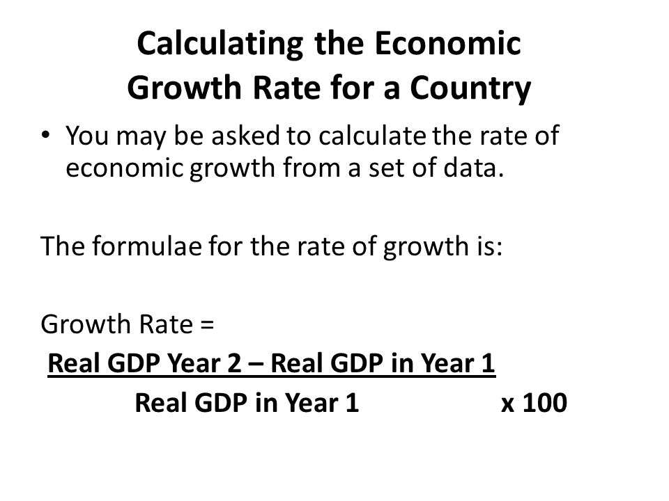 Calculating the Economic Growth Rate for a Country