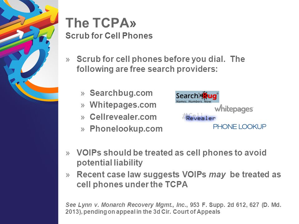 The TCPA» Scrub for Cell Phones