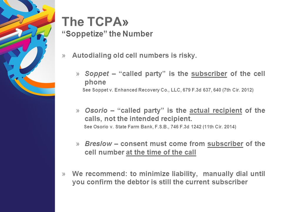 The TCPA» Soppetize the Number