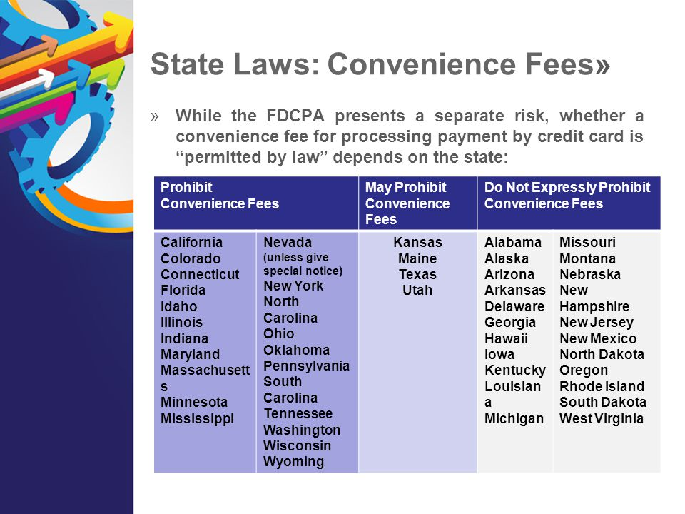 State Laws: Convenience Fees»
