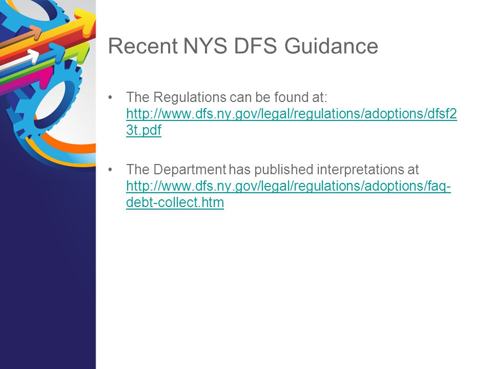 Recent NYS DFS Guidance