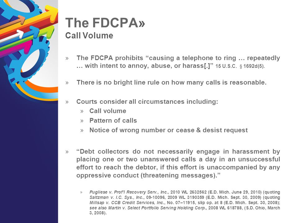 The FDCPA» Call Volume