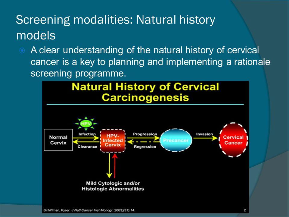 Screening modalities: Natural history models