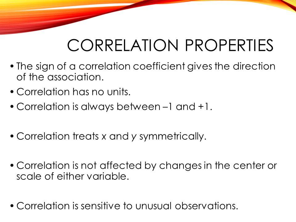 Correlation properties