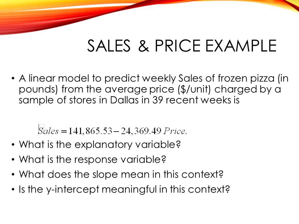 QTM1310/ Sharpe SALES & Price example.
