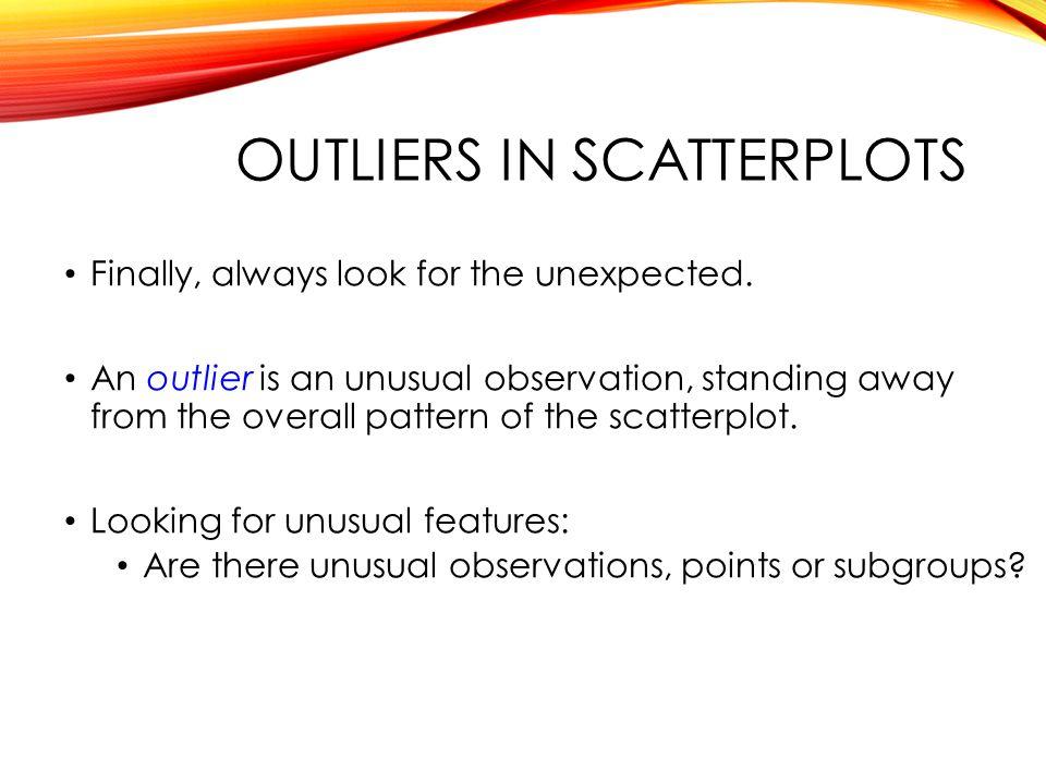 Outliers in scatterplots