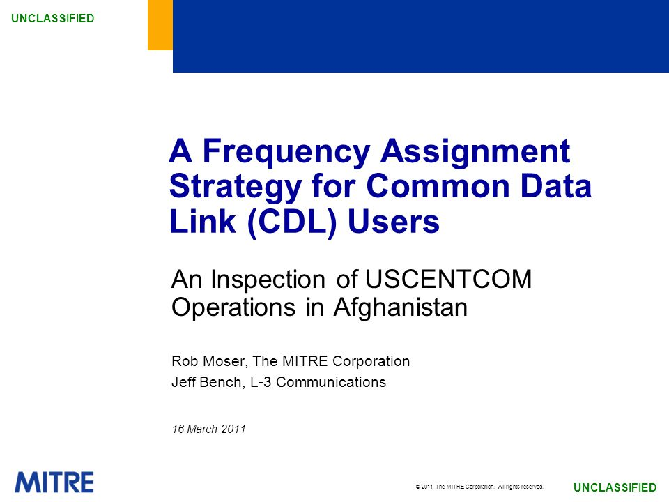 A Frequency Assignment Strategy for Common Data Link (CDL) Users