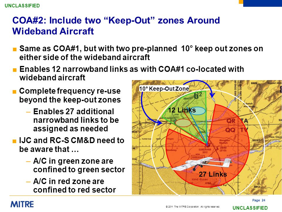 COA#2: Include two Keep-Out zones Around Wideband Aircraft