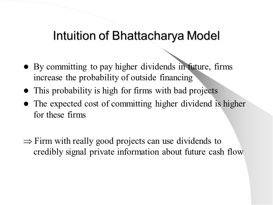 Intuition of Bhattacharya Model