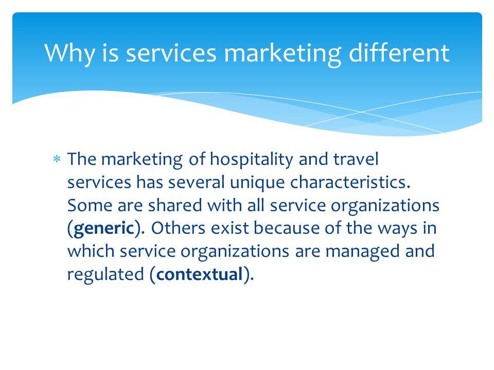 Why is services marketing different