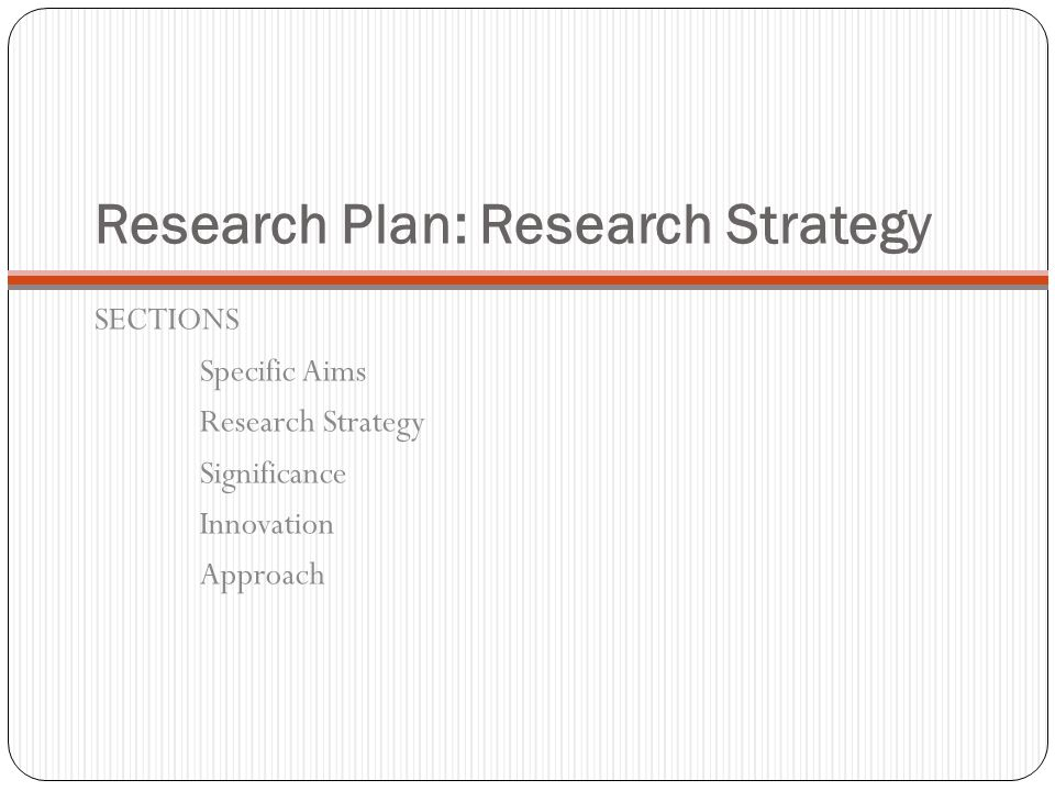 Research Plan: Research Strategy