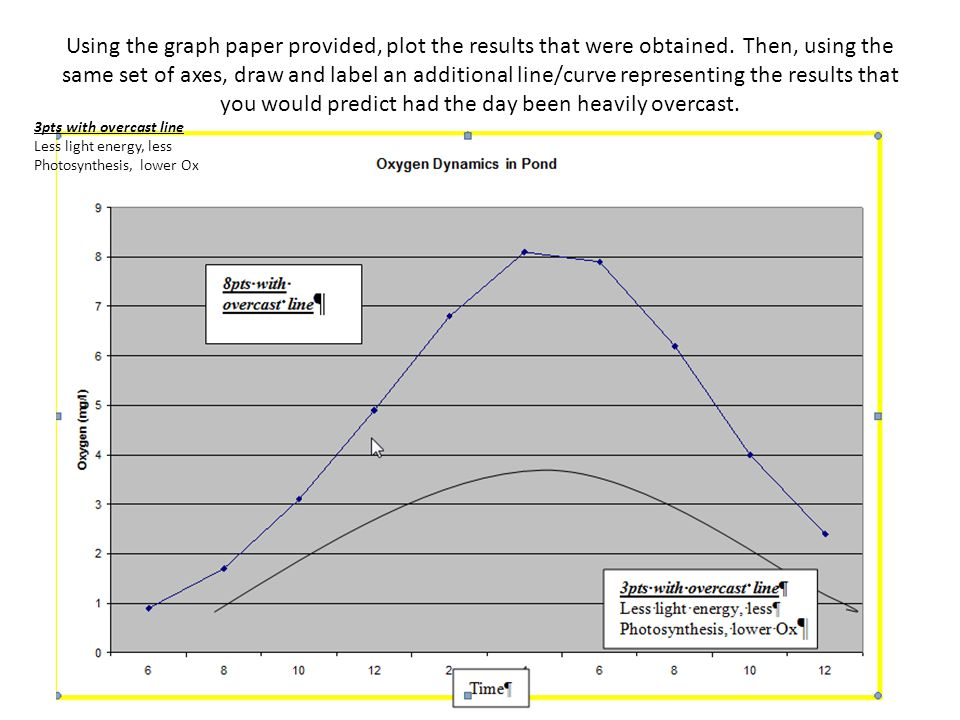 Using the graph paper provided, plot the results that were obtained