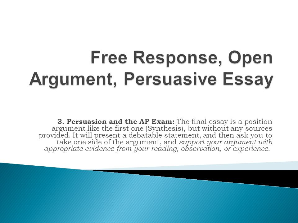 easy topic for argument essay