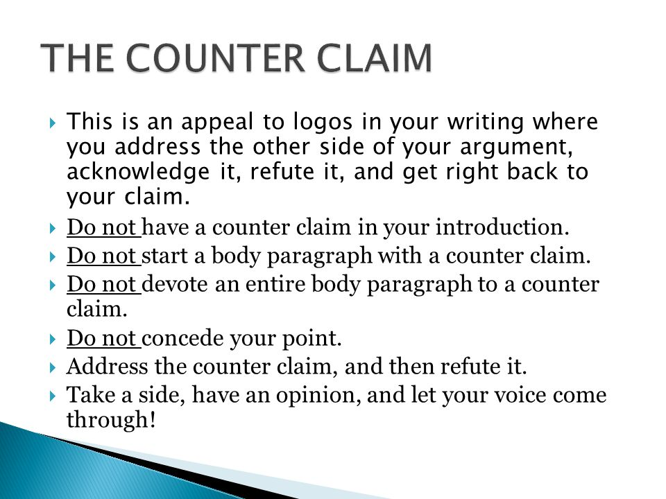 THE COUNTER CLAIM