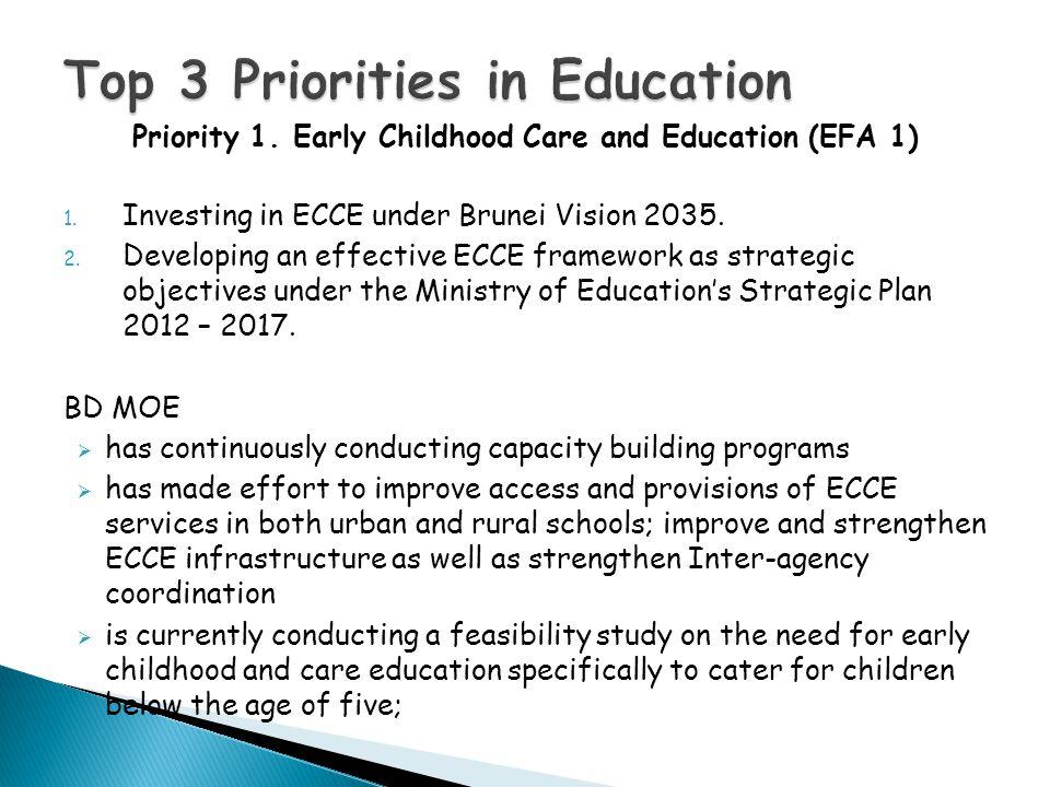 Top 3 Priorities in Education