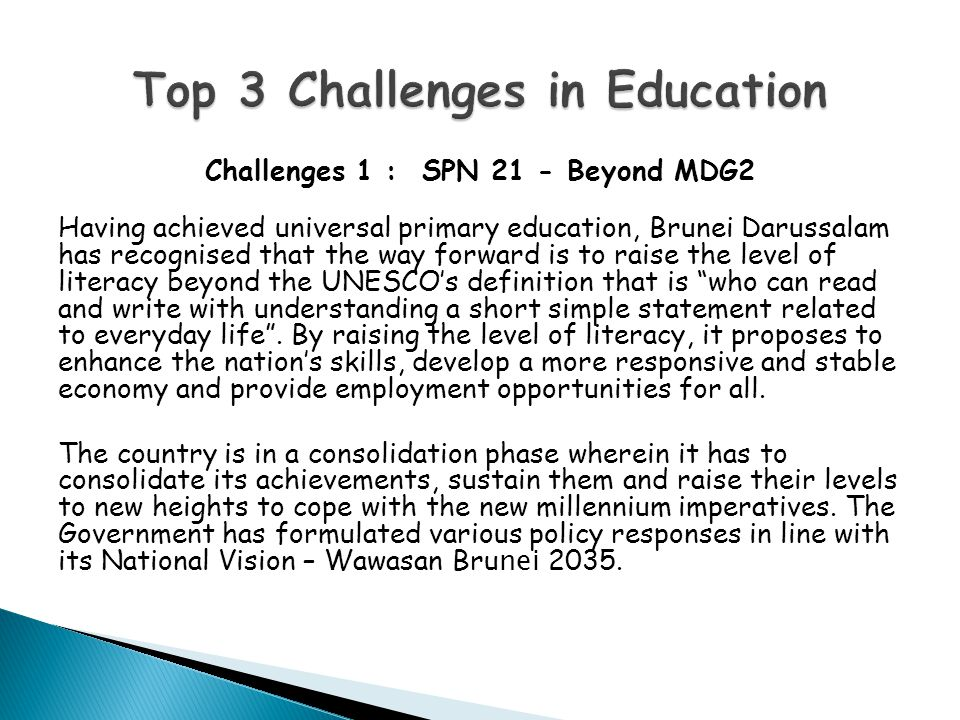Top 3 Challenges in Education