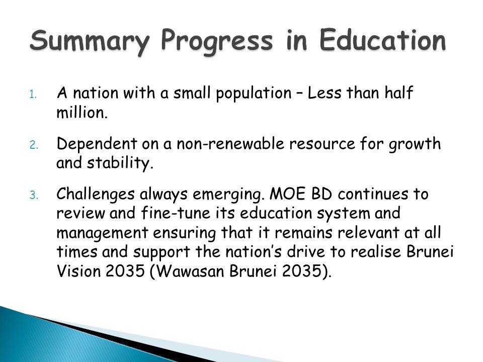 Summary Progress in Education