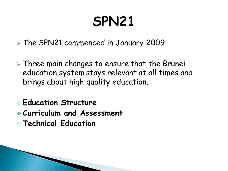 SPN21 The SPN21 commenced in January 2009