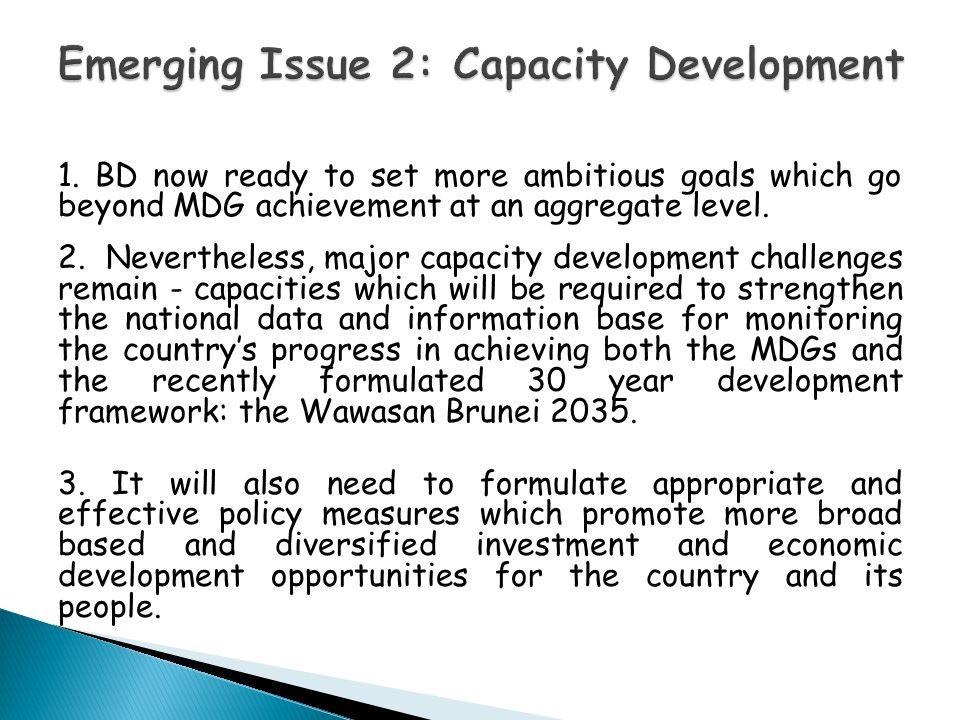 Emerging Issue 2: Capacity Development